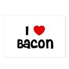 I * Bacon Postcards (Package of 8)