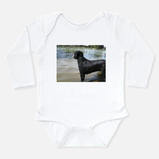Portuguese Water Dog Long Sleeve Infant Bodysuit