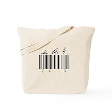 Bar Code 70.3 Tote Bag