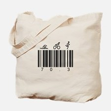 Bar Code 70.3 Tote Bag