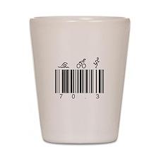 Bar Code 70.3 Shot Glass