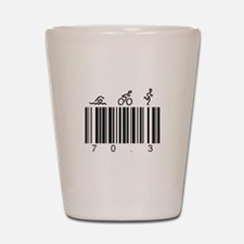 Bar Code 70.3 Shot Glass