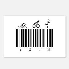 Bar Code 70.3 Postcards (Package of 8)