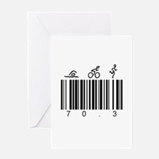 Bar Code 70.3 Greeting Card