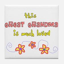 More Grandparents Tile Coaster