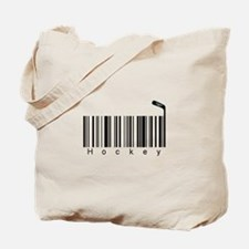 Bar Code Hockey Tote Bag