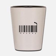 Bar Code Hockey Shot Glass
