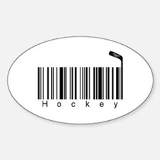 Bar Code Hockey Decal