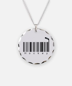 Bar Code Hockey Necklace