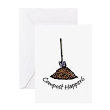 Compost Happens Greeting Card