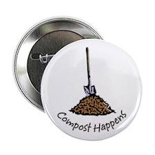 """Compost Happens 2.25"""" Button"""