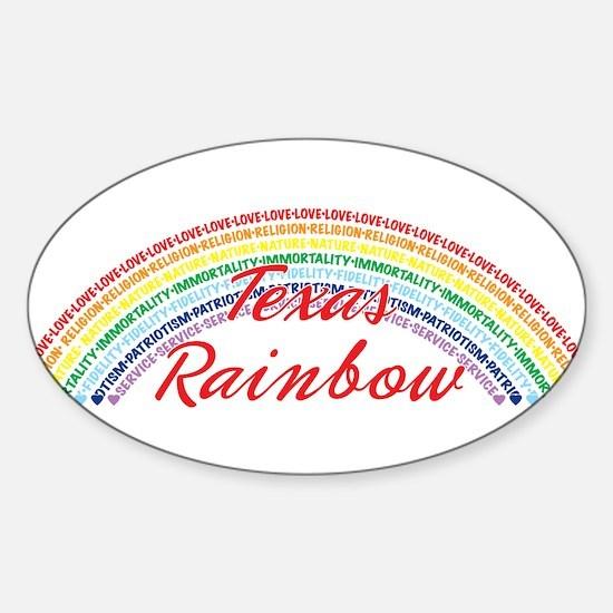 Texas Rainbow Girls Sticker (Oval)