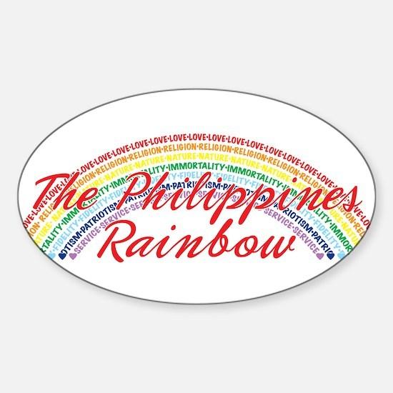 The Philippines Rainbow Girls Sticker (Oval)