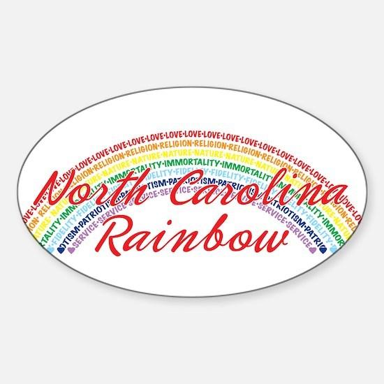 North Carolina Rainbow Girls Sticker (Oval)