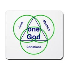 Three Religions with One God Mousepad