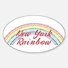 New York Rainbow Girls Sticker (Oval)