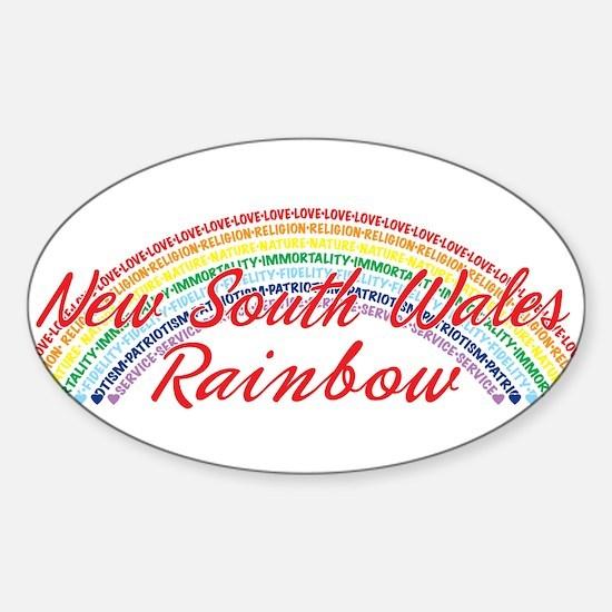 New South Wales Rainbow Girls Sticker (Oval)