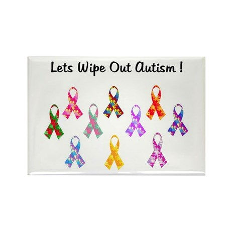 Lets Wipe Out Autism! Rectangle Magnet (10 pack)