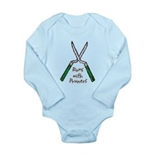 Runs with Pruners Long Sleeve Infant Bodysuit