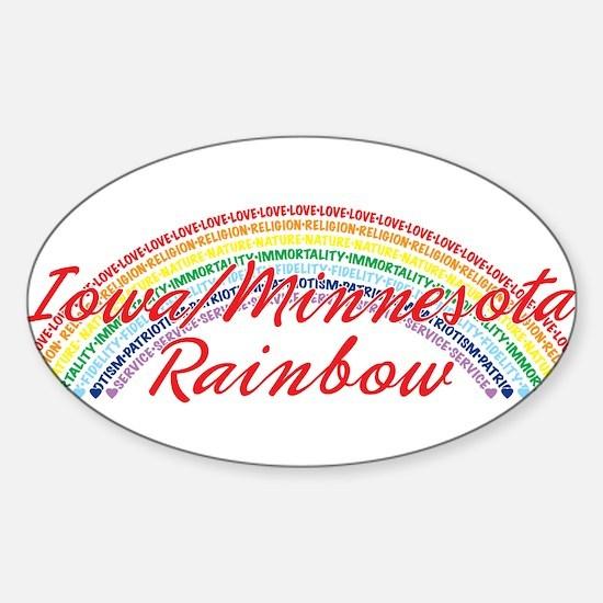 Iowa/Minnesota Rainbow Girls Sticker (Oval)