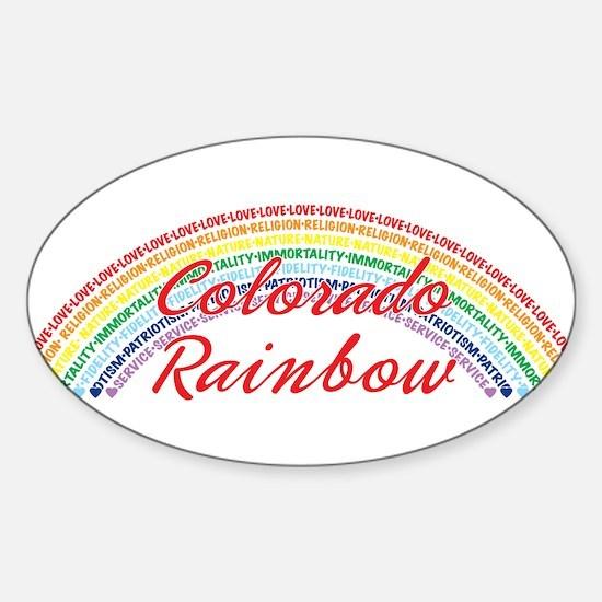 Colorado Rainbow Girls Sticker (Oval)
