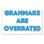 grammars are overrated Rectangle Sticker