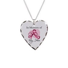 Breast Cancer In Memory Hero Necklace Heart Charm