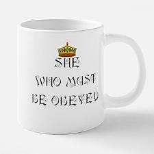 She who must be obeyed t-sh 20 oz Ceramic Mega Mug
