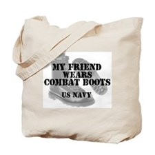My Friend Wears Navy CB Tote Bag