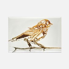 Industrial Finch Rectangle Magnet