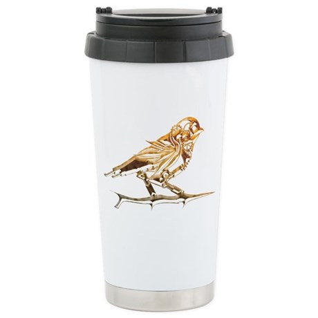 Industrial Finch Stainless Steel Travel Mug