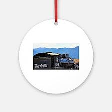 Rio Grande Railroad Round Ornament