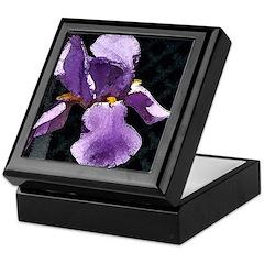 Iris square Keepsake Box