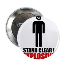 """Stand clear! explosive person 2.25"""" Button (10 pac"""