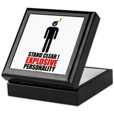 Stand clear! explosive person Keepsake Box