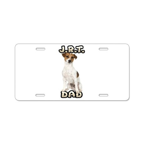 Jack Russell Terrier Dad Aluminum License Plate