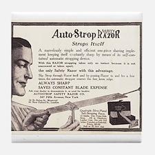 1909 Auto Strop Ad Tile Coaster