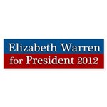 Elizabeth Warren for President bumper sticker