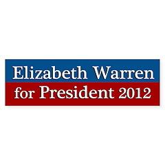 Elizabeth Warren for President bumper sticker
