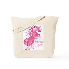 Horses Rock Pink Tote Bag