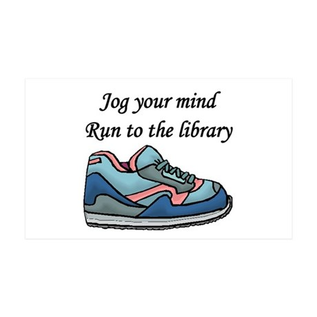 """""""Jog Your Mind"""" 35x21 Wall Decal"""
