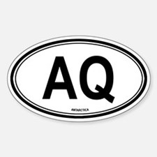 Antarctica (AQ) euro Oval Decal