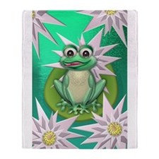 Wonder frog Throw Blanket