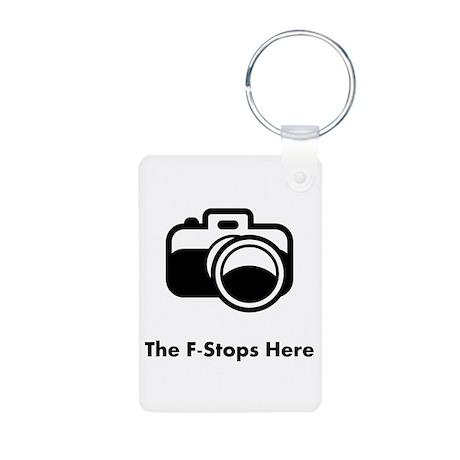 The F-Stops Here! Aluminum Photo Keychain