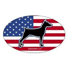 USA Doberman Oval Decal