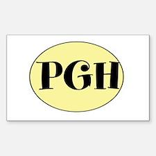 PGH, Pittsburgh, Fun, Decal
