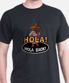 Hola Back Black T-Shirt