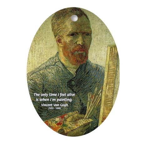 Vincent Van Gogh Quote Oval Ornament