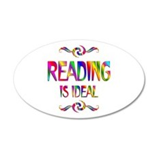 Reading is Ideal 22x14 Oval Wall Peel