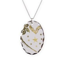 Golden heart floral stars Necklace